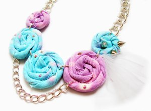 blue spiral necklace